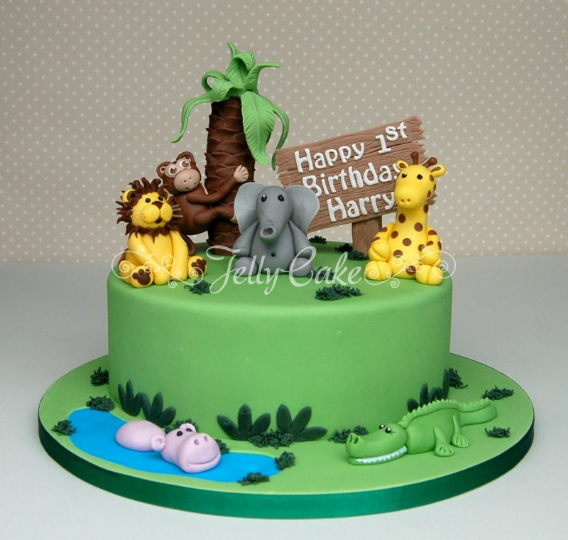 Jungle Birthday Cake Images : Pin Jungle Party Cake Toppers Cake on Pinterest