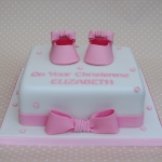 booties-and-bows-christening-cake