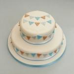 boys-bunting-christening-cake