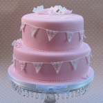 bunting-butterflies-cake