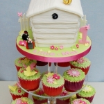 the-hive-cake-and-cupcake-tower