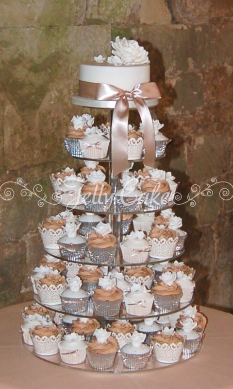 Ruffle Tower Cake Recipe — Dishmaps