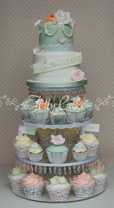 roses-and-pearls-wedding-cupcake-tower