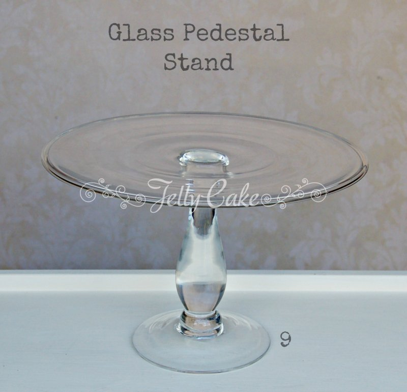 Glass Cake Stand - Labelled