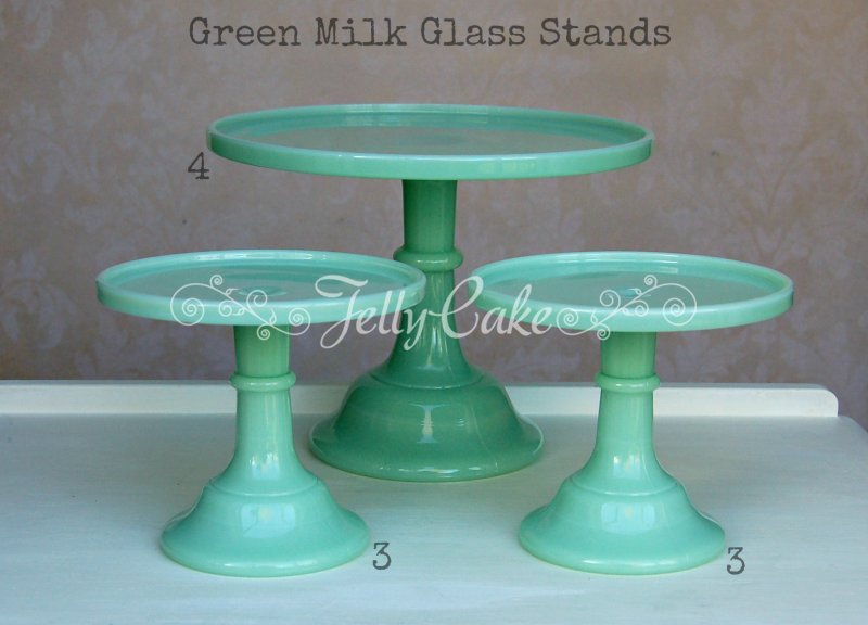 Green Milk Glass - Labelled