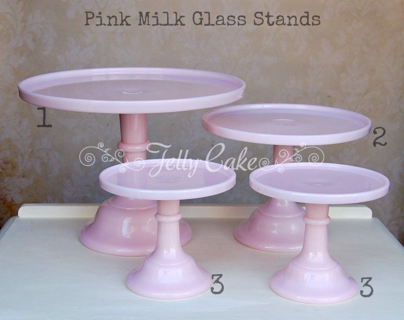 Pink Milk Glass - Labelled