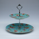 2-tier-blue-floral-stand