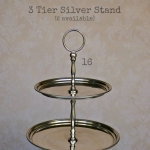 3 Tier Silver Stand - Labelled