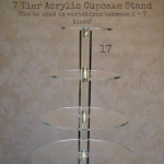 7 Tier Acrylic Stand - Labelled