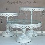 Crystal Drops Cake Stands - Labelled