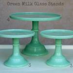 Green Milk Glass - Labelled