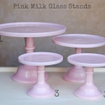 Pink Milk Glass - Labelled