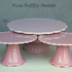 Pink Ruffle Stands - Labelled