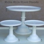 White Milk Glass - Labelled