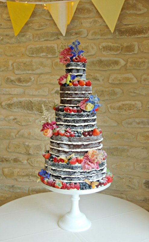 5 Tier Naked Cake 1