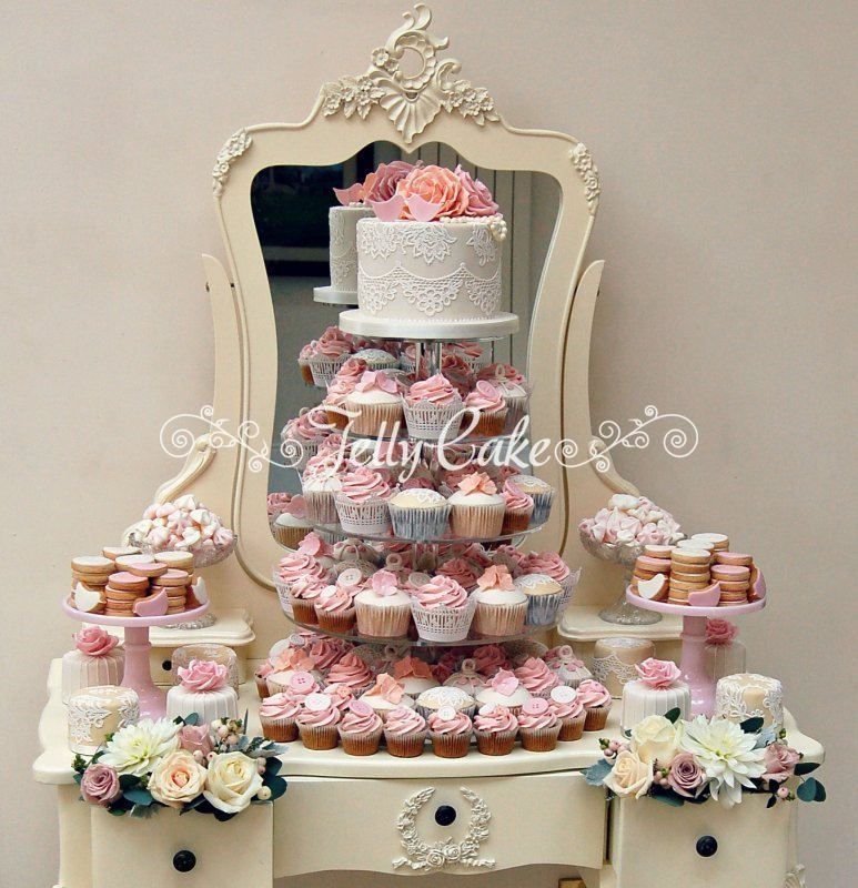 Pink & Peach Dessert Table 2b