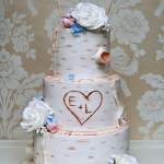silver birch wedding cake