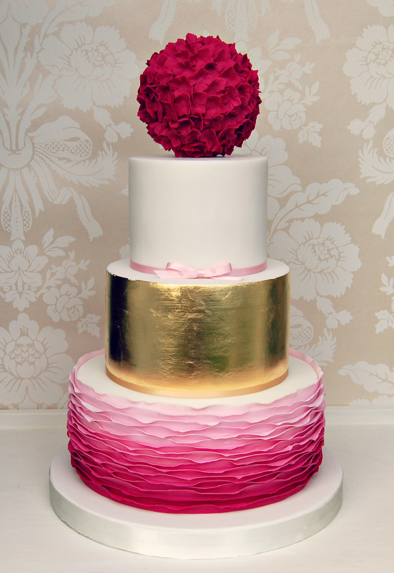 Gold And Pink Ruffles WC 1a