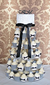 Ruffles and Bow Cupcake Tower 4a