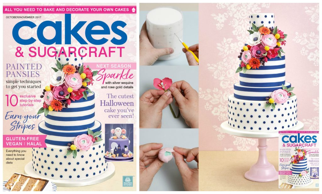 My Spots Stripes And Brights Kate Spade Inspired Wedding Cake Step By Tutorial Featured In Cakes Sugarcraft Magazine It Even Made The Front
