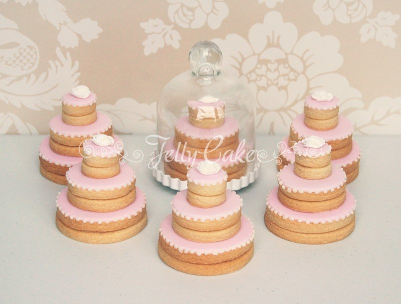 mini wedding cake cookies recipe favours and biscuits jellycake 17413