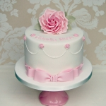 Rose Christening Cake 1a