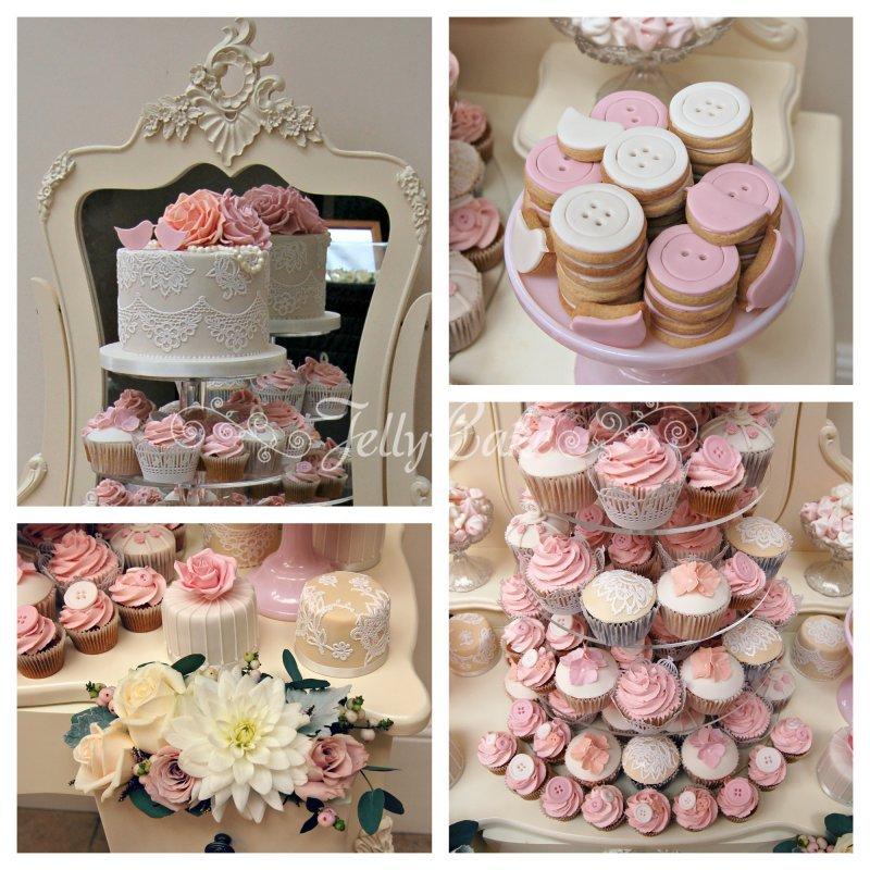 Pink & Peach Dessert Table Collage 1