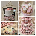 Pink & Peach Dessert Table Collage 1