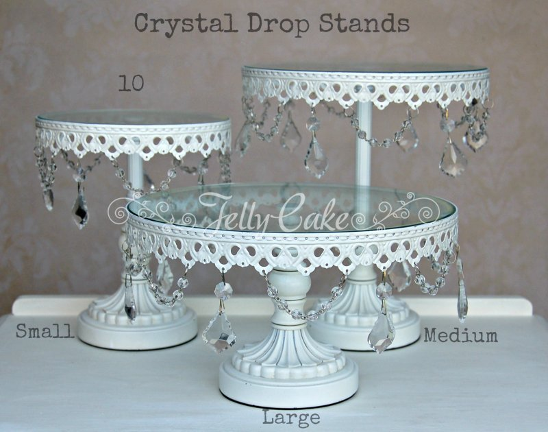 crystal wedding cake stand hire to hire jellycake 13128