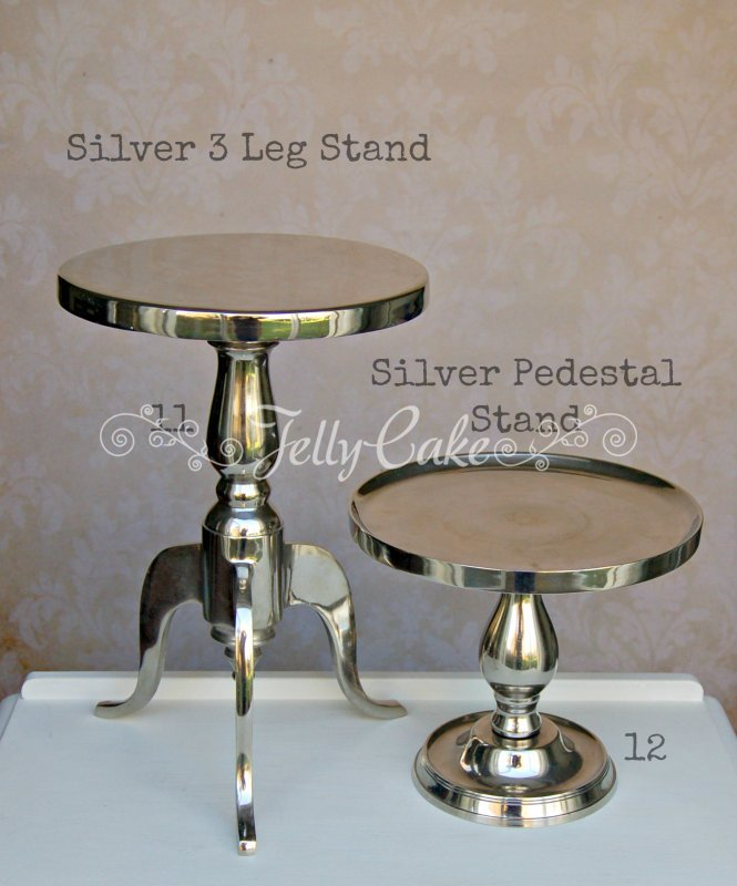 Silver Cake Stands - Labelled