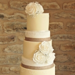 pastel yellow wedding cake