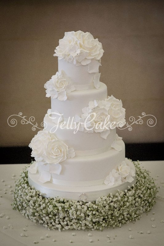 wedding cake white roses white roses wedding cake 3 26816